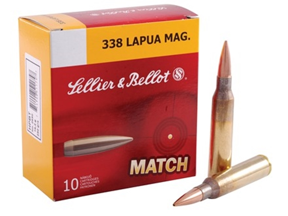 Picture of Sellier & Bellot Target (Match) Rifle Ammo - 338 Lapua Mag, 250Gr, HPBT, 10rds Box