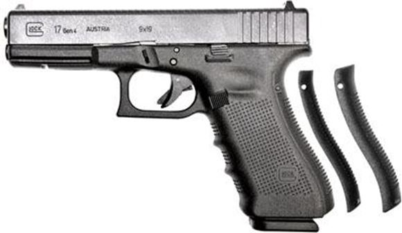 """Picture of Glock 17 Gen4 Standard Safe Action Semi-Auto Pistol - 9mm, 4.48"""", Black, 3x10rds, Fixed Sight, 5.5lb"""