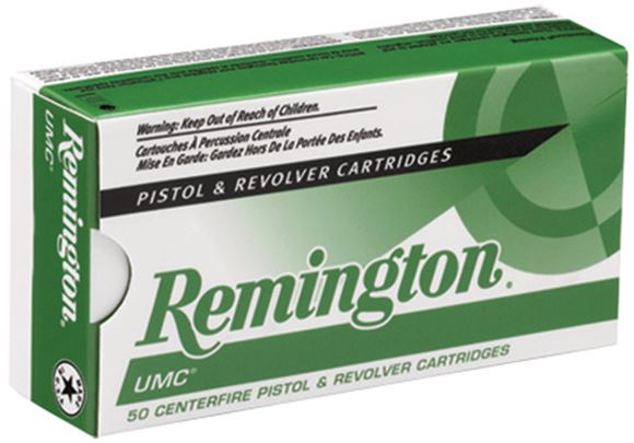 Picture of Remington UMC Pistol & Revolver Handgun Ammo - 40 S&W, 180Gr, MC, 500rds Case