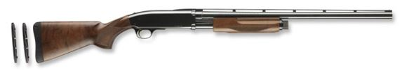 """Picture of Browning BPS Micro Midas Pump Action Shotgun - 20Ga, 3"""", 24"""", Vented Rib, Polished Blued, Polished Blued Steel Receiver, Satin Grade I Black Walnut Stock, 4rds, Silver Bead Front Sight, Invector Plus Flush (F,M,IC)"""