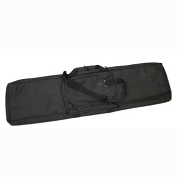 "Picture of Bob Allen Gun Cases, Soft Gun Cases - BAT142, Rectangular Tactical Rifle Case, 42"" x 11.5"" x 2"", Black"