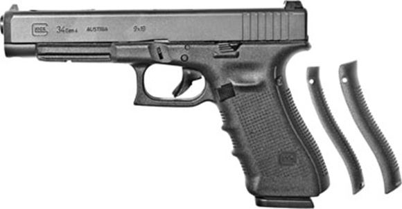 """Picture of Glock 34 Gen4 Competition Safe Action Semi-Auto Pistol - 9mm, 5.31"""", Black, 3x10rds, Adjustable Sight, 4.5lb"""