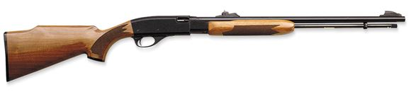 "Picture of Remington Model 572 BDL Fieldmaster Rimfire Pump Action Rifle - 22 S/L/LR, 21"", Polished Blue, High-Gloss American Walnut Stock, 14rds, Adjustable Iron Sights"