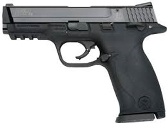"Picture of Smith & Wesson (S&W) M&P22 Single Action Internal Hammer Rimfire Semi-Auto Pistol - 22 LR, 4.2"" (107mm), Black, Metal Frame & Aluminum-Aerospace Alloy Slide, Polymer Grip Fixed Backstrap, 10rds, Drift Adjustable Front & Click Adjustable Rear Sights"