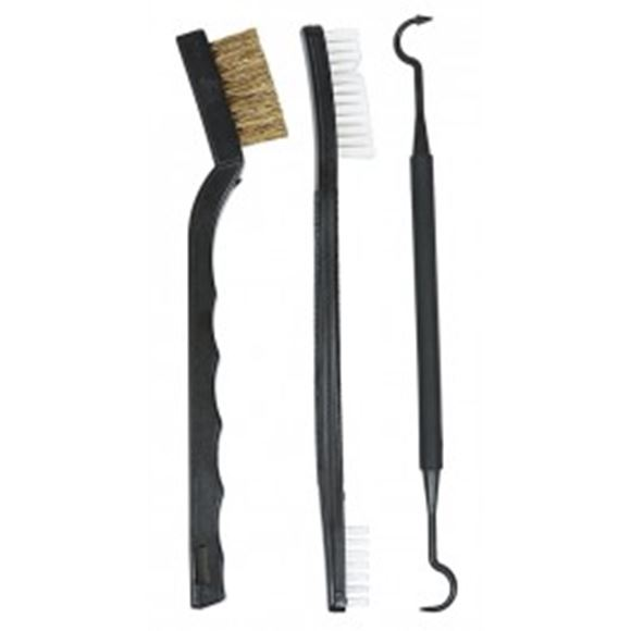 Picture of Allen Shooting Accessories, Gun Care - Gun Cleaning Tool Set (Slot & Crevice Pick, Small Nylon Brush, Brass Bristle Brush)