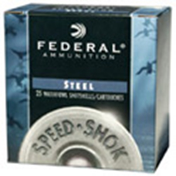 "Picture of Federal Speed-Shok Waterfowl Load Shotgun Ammo - 12Ga, 3"", 1-1/8oz, #3, Steel, 1550fps, 250rds Case"