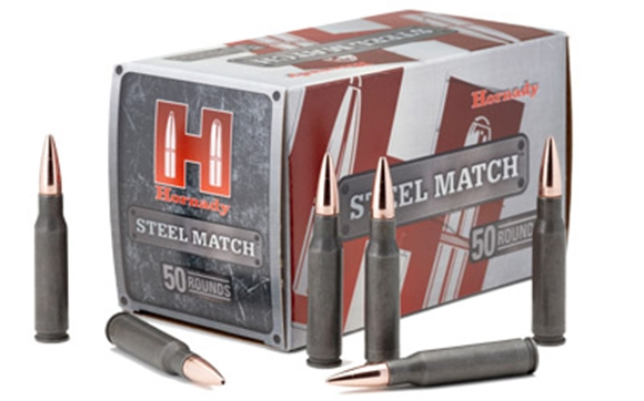 Picture of Hornady Steel Match Rifle Ammo - 223 Rem, 75Gr, BTHP Steel Match, 500rds Case