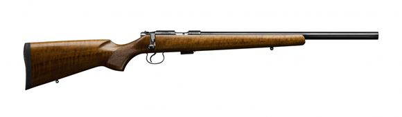 """Picture of CZ 455 Varmint Rimfire Bolt Action Rifle - 17 HMR, 20-1/2"""", Hammer Forged, Polycoat, Walnut Stock, 5rds, Adjustable Trigger"""