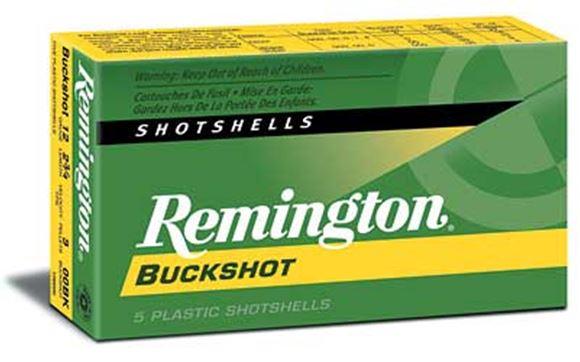"""Picture of Remington Buckshot, Express Magnum Buckshot Shotgun Ammo - 12Ga, 3"""", 4 DE, #000 Buck, 10 Pellets, Buffered, 250rds Case, 1225fps"""