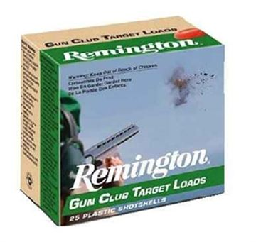 "Picture of Remington Target Loads, Gun Club Target Loads Shotgun Ammo - 12Ga, 2-3/4"", 3 DE, 1-1/8oz, #8, 25rds Box, 1200fps"