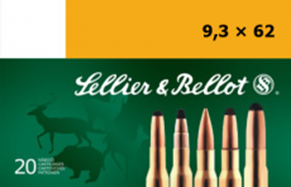 Picture of Sellier & Bellot Rifle Ammo - 9.3x62mm, 286Gr, SP, 20rds Box