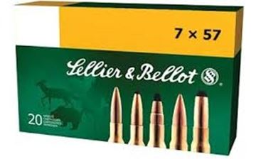 Picture of Sellier & Bellot Rifle Ammo - 7x57mm, 173Gr, SPCE, 20rds Box