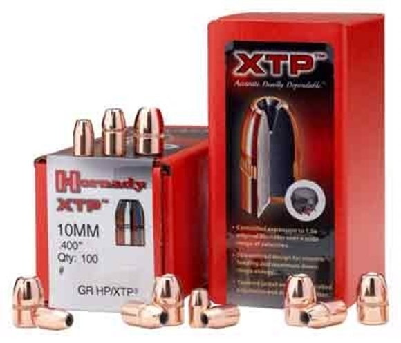 "Picture of Hornady Handgun Bullets, XTP (eXtreme Terminal Performance) - 10mm Caliber (.400""), 180Gr, HP XTP, 100ct Box"