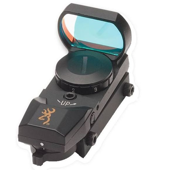 Picture of Browning Shooting Accessories, Sights - Buck Mark Reflex Sight, Matte Black, Weaver Mount, 3 MOA Dot/Cross-Dot/Circle-Dot-Cross/Circle-Dot Reticles, CR2032 3V