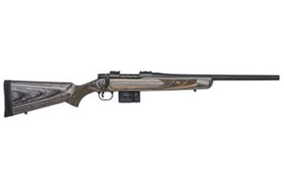 "Picture of Mossberg MVP Series MVP Predator Bolt Action Rifle - 7.62mm NATO, 18.5"", Medium Bull Barrel, Fluted, Threaded, Matte Blue, Laminate Sporter-Style Stock, 5rds, LBA Trigger"
