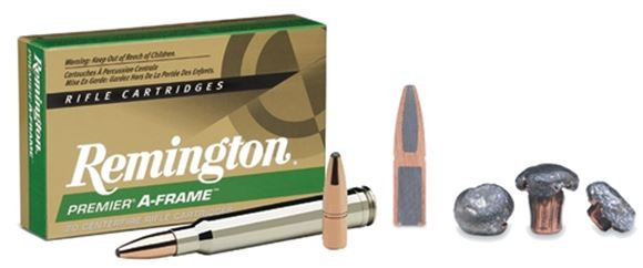 Picture of Remington Premier A-Frame Centerfire Rifle Ammo - 375 RUM, 300Gr, A-Frame, PSP, 20rds Box