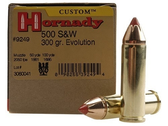 Picture of Hornady Custom Handgun Ammo - 500 S&W, 300Gr, FTX, 200rds Case