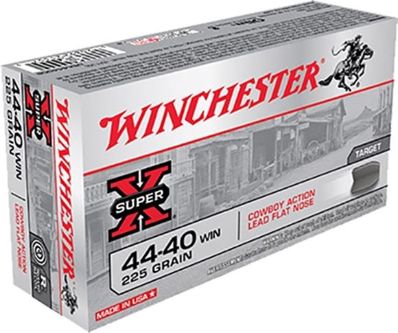 Picture of Winchester Lead Handgun Ammo - 44-40 Win, 225Gr, Lead Flat Nose, 50rds Box