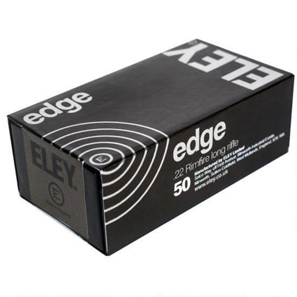 Picture of ELEY Rimfire Ammo - Edge, 22 LR, 40Gr, Black Oxidized Flat Nose, 500rds Brick