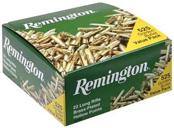 Picture of Remington .22 Rimfire, Golden Bullet HP Rimfire Ammo - 22 LR, 36Gr, Plated HP, 6300rds Case, 1280fps