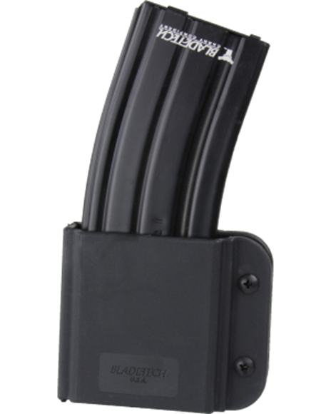 Picture of Blade-Tech Revolution AR Magazine Pouches, Revolution AR-15/M4 Double Mag Pouches - Tek-Lok, Mag Vertical, Black, Left Hand