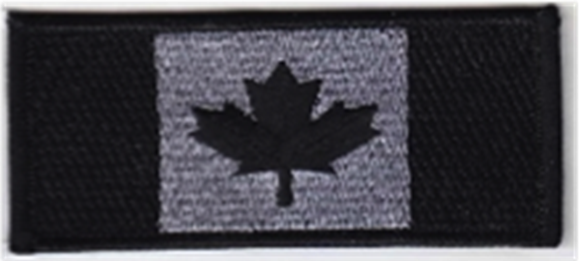 Picture of Beretta Caps - Velcro Tactical Patch, Canadian Flag, Silver w/Black