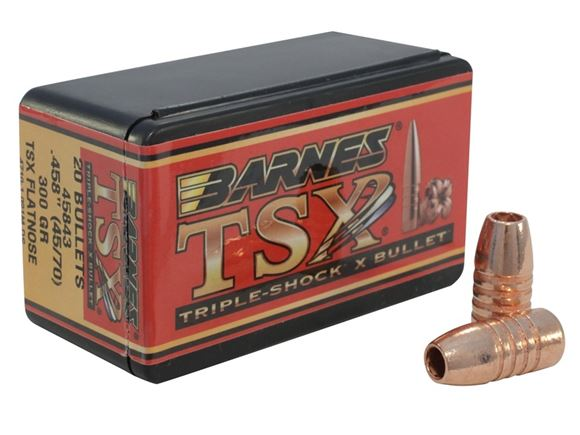 "Picture of Barnes TSX (Triple-Shock X) Hunting Rifle Bullets - 45 Caliber (.458""), 300Gr, TSX FN, 20ct Box"