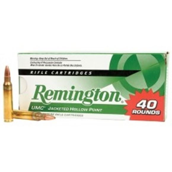 Picture of Remington UMC Rifle Ammo, Value Pack - 22-250 Rem, 45Gr, JHP, 40rds Box