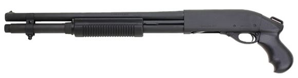 "Picture of Remington Model 870 Express Tactical Pump Action Shotgun - 12Ga, 3"", 18.5"", Parkerized, Pistol Grip Only Stock, 6rds, Single Bead Sight, Fixed Cylinder"