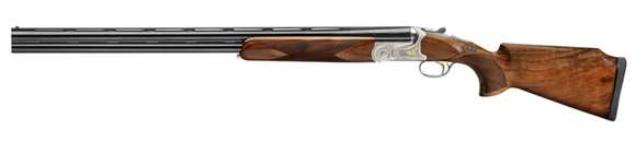 """Picture of Syren Tempio Over Under Shotgun, Tempio Sporting - 12ga, 2-3/4"""", 28"""", Raised Comb , Hand Polished Coin Finish w/ Invisalloy Protective Finish, MAXIS Competition Chokes, (C,S,IC,IC,M,LM)"""
