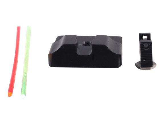 Picture of Warren Tactical Iron Sights - Plain Rear w/ Fiber Optic Front, Glocks
