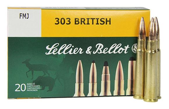 Picture of Sellier & Bellot Rifle Ammo - 303 British, 150Gr, SP, 20rds Box