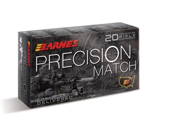 Picture of Barnes Precision Match Rifle Ammo - 338 Lapua Mag, 300Gr, OTM BT, 200rds Case