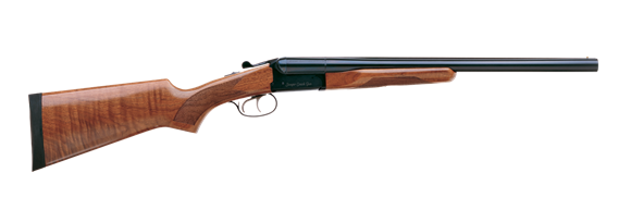 """Picture of Stoeger Industries IGA Coach Gun Deluxe Side-by-Side Shotgun- 12Ga, 3"""", 20"""", Blued, AA-Grade Gloss Walnut Stock, Brass Bead Front Sight, Double Trigger, (IC,M)"""
