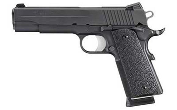 """Picture of SIG SAUER 1911 XO Black Single Action Semi-Auto Pistol - 45 ACP, 5"""", Stainless, Nitron, Ergo XT Extreme-Use Grips, 2x8rds, Low-Profile Contrast Sights, Rail"""