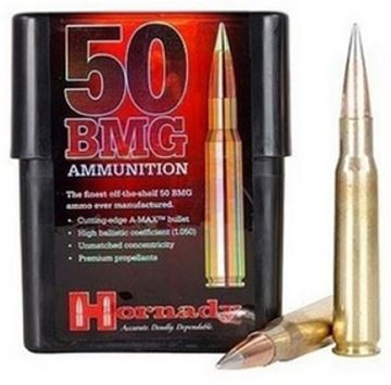 Picture of Hornady Match Rifle Ammo - 50 BMG, 750Gr, A-MAX Match, 10rds Box