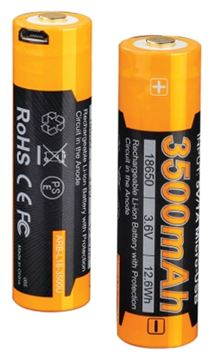Picture of Fenix Accessories, Rechargeable Battery - ARB-L18, Rechargeable 18650 Li-ion Battery, 3.6V, 3500mAh, Micro USB Charging Port