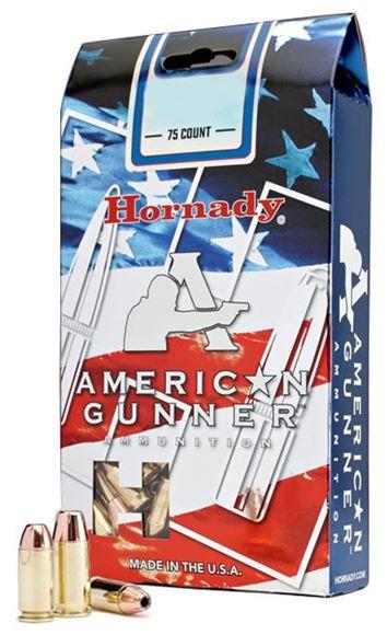 Picture of Hornady American Gunner Handgun Ammo - 9mm Luger, 115Gr, XTP American Gunner, 75rds Loose Pack