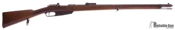 Picture of Used Gewehr 1888 Bolt-Action 8x57J(.318 Bore), 1891 Production by Amberg, Turkish Import Markings, Comes With Spare .323 barrel, Good Condition