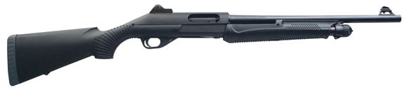 """Picture of Benelli Nova Tactical Pump Action Shotgun - 12Ga, 3-1/2"""", 18.5"""", Blued, Black Synthetic Stock, 4rds, Ghost Ring Sights, Fixed Cylinder"""