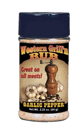 Picture of Hi Mountain Seasoning - Jerky Western Garlic Pepper Grill Rub, 64g Jar