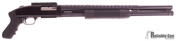 """Picture of Used Mossberg 500 Pump-Action 12ga, 3"""" Chamber, 20"""" Barrel, 8 Shot, With Scope Rail/Side Saddle Combo, Heat Shield & Pistol Grip, Very Good Condition"""