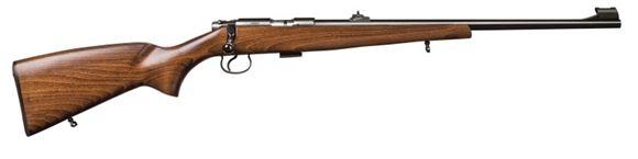 "Picture of CZ 455 Standard Rimfire Bolt Action Rifle - 17HMR, 20"", Beech Wood Stock, Blued, 5rds, Adjustable Sight, Adjustable Trigger"