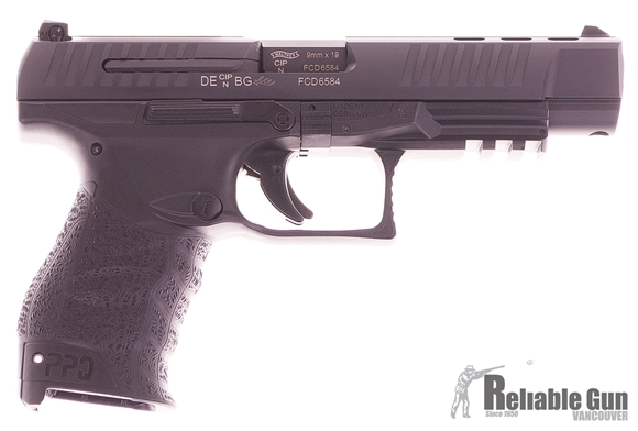 "Picture of Used Walther PPQ M2 B 5"" Semi Auto Pistol, 9mm, 2 x 10rd Mags, Original Kit, Excellent Condition"