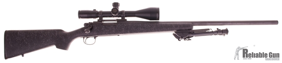 Picture of Used Remington 700 Varmint Bolt-Action 308, With Bushnell Elite 4200 Tactical 6-24x50mm Scope, HS Precision Stock, Harris Bipod, Good Condition
