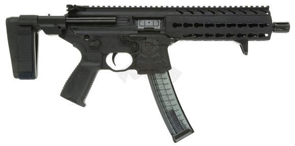 "Picture of SIG Sauer MPX SBR Semi Auto Carbine - 9mm Luger, 8"", 1:10, A2 Compensator, Hard Coat Anodized, Aluminum KeyMod Handguard, NO Rear Stock, 5/30rds, Ambidextrous Controls"