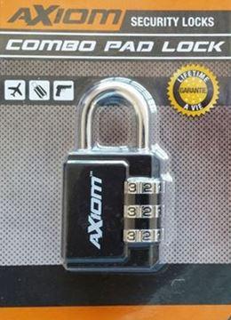 Picture of Axiom Locks - Combo Pad Lock, TSA Accepted, Hard Shackle