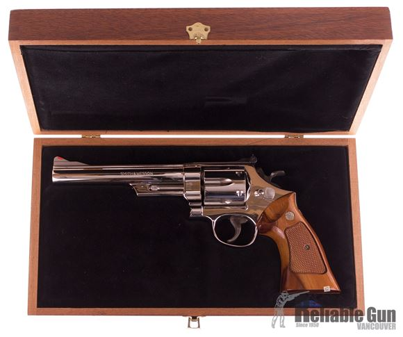 Picture of Used Smith & Wesson Model 29-2 Nickel Plated Revolver, .44 Mag, 6.5'' Barrel, Presentation Box, Excellent Condition