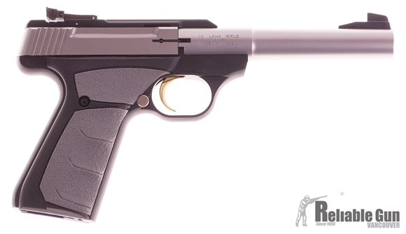 """Picture of Used Browning Buck Mark UFX Pro Target Semi Auto Pistol, 22 LR, 5 1/2"""" Stainless Barrel, 2x10rd Mags, Original Kit, Very Good Condition"""