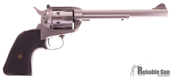 Picture of Used Interarms Virginian Dragoon 44 Mag Revolver, Stainless, 8-3/8'' Barrel, Single Action, Adj Rear Sight, Pachmayr Rubber Grip, Original Box, Good Condition